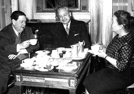 with Madeleine and Darius Milhaud